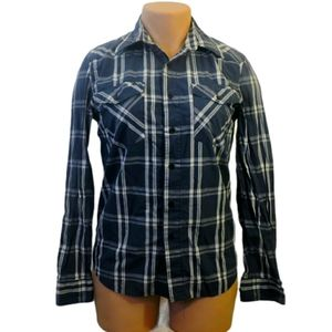 Urban Heritage flannel shirt with pockets Large